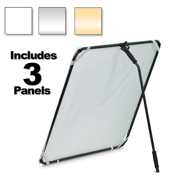 "Dot Line Corp 40 x 40"" Self-Standing Aluminum Reflector/Diffuser Panel"