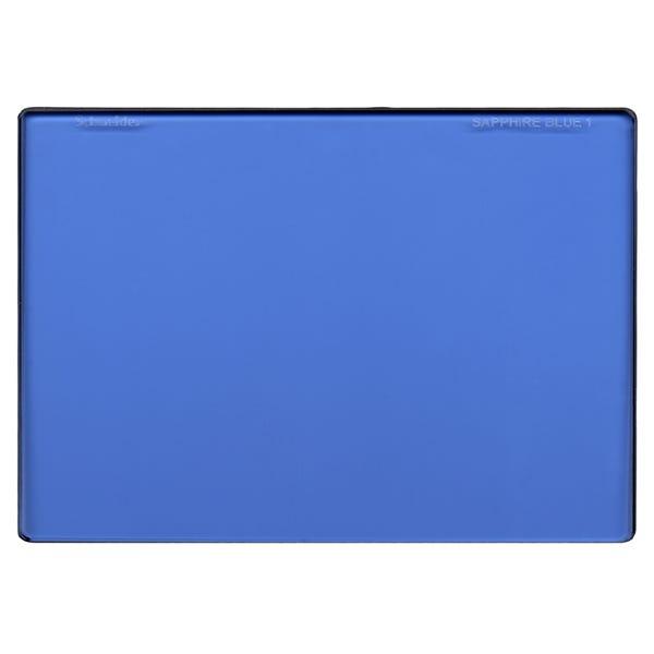 "Schneider Optics 4 x 5.65"" Graduated Sapphire Blue 1 Water White Glass Filter - Soft Edge with Vertical Orientation"