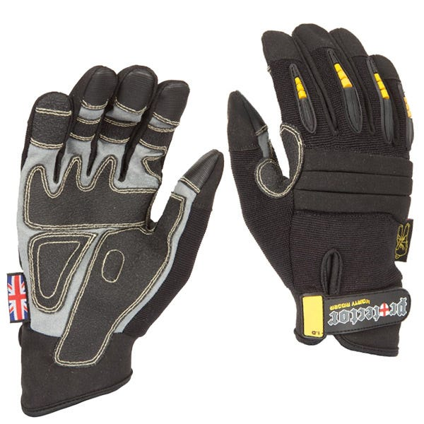 Dirty Rigger Black Protector Gloves - XX-Large