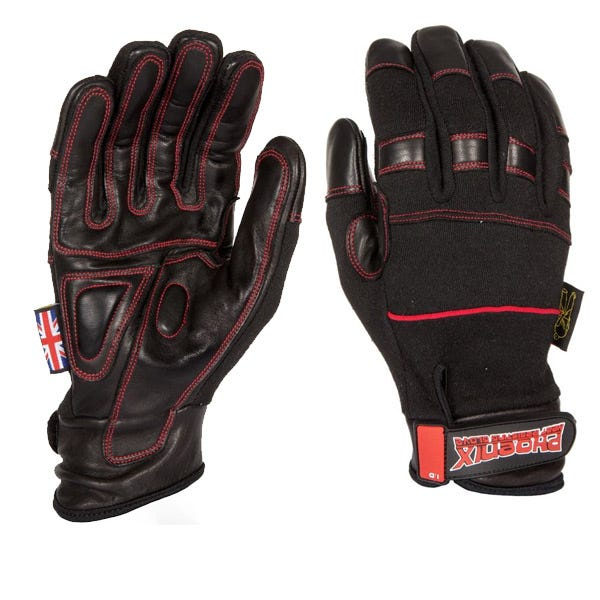 Dirty Rigger Black Phoenix Heat Resistant Gloves - Small