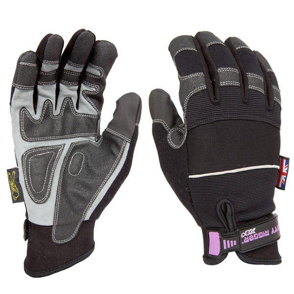 Dirty Rigger Black Slim-Fit Gloves - X-Small