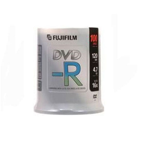 picture about Dvd R Printable called Fujifilm Silver Hub Inkjet Printable 4.7GB 16X DVD-R - 100 Pk