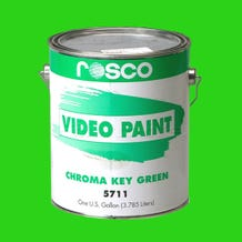 Rosco 5711 Chroma Key Green Video Paint - 1 Gallon (Ground Only)