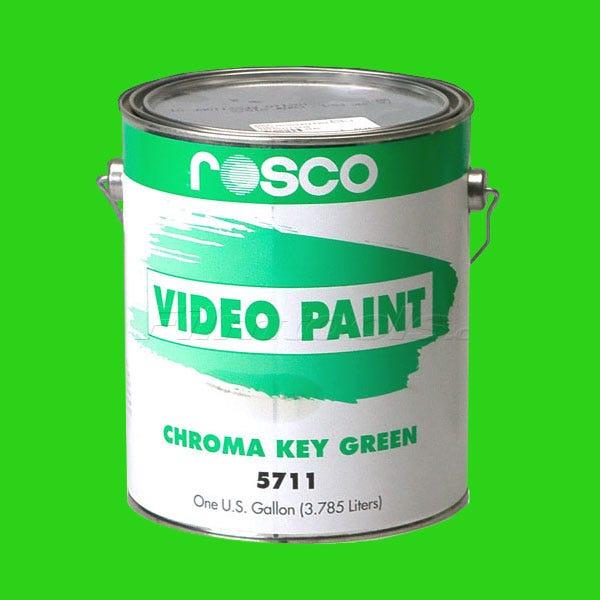 Rosco 5711 Chroma Key Green Video Paint - 1 Gallon (Ground Only)