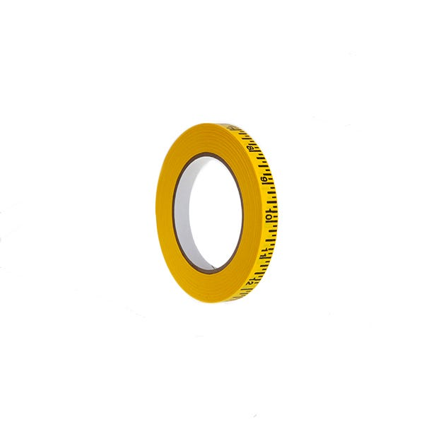 "Pro-Gaff 1/2"" Imperial Measurement Paper Tape - Yellow"