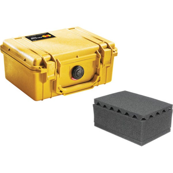 Pelican 1150 Case with Foam - Yellow