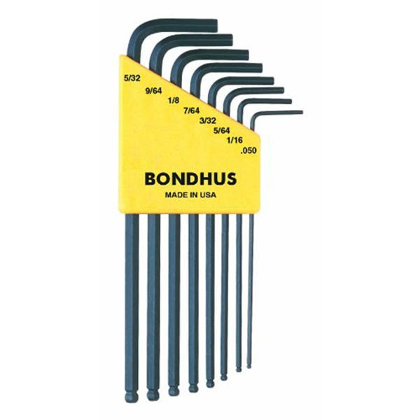 Bondhus 10932 : 8 Piece Ball Driver set. .050-9/64 (Inch set)
