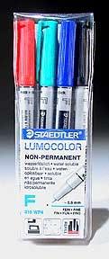 Staedtler Fine Point Lumocolor Non-Permanent Marker Set - 4 Colors