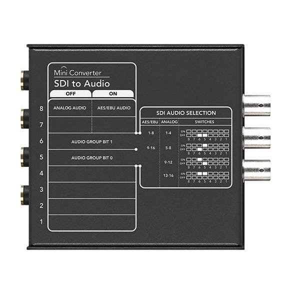 BlackMagic Mini Converter - SDI to Audio