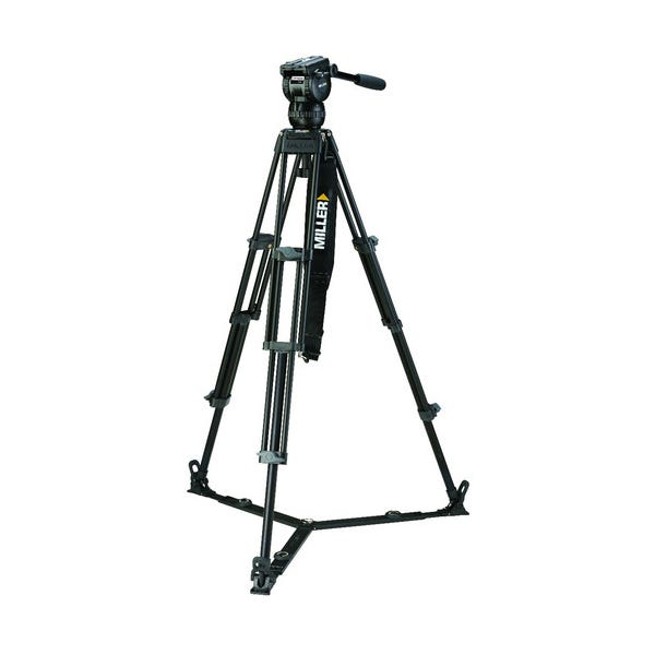 Miller CX2 Fluid Head with Toggle 75 2-Stage Alloy Tripod System (Ground-Level Spreader)