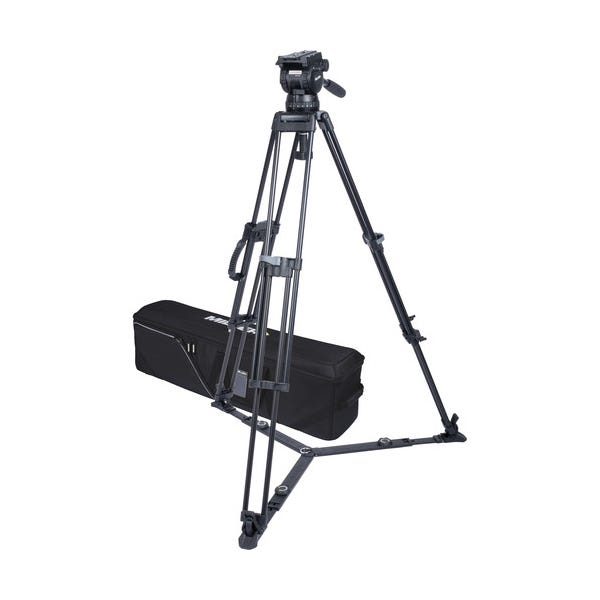 Miller CX18 Sprinter II 1-Stage Alloy Tripod System with Ground Spreader