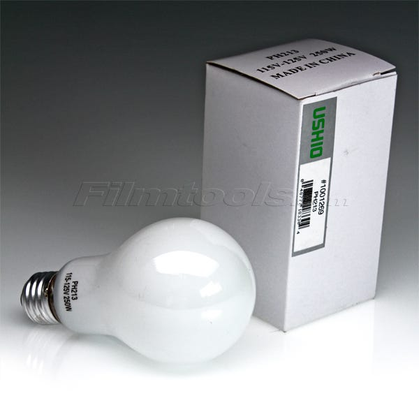 Ushio PH213 Incandescent Projector Light Bulb 3400K (250W/115-125V)