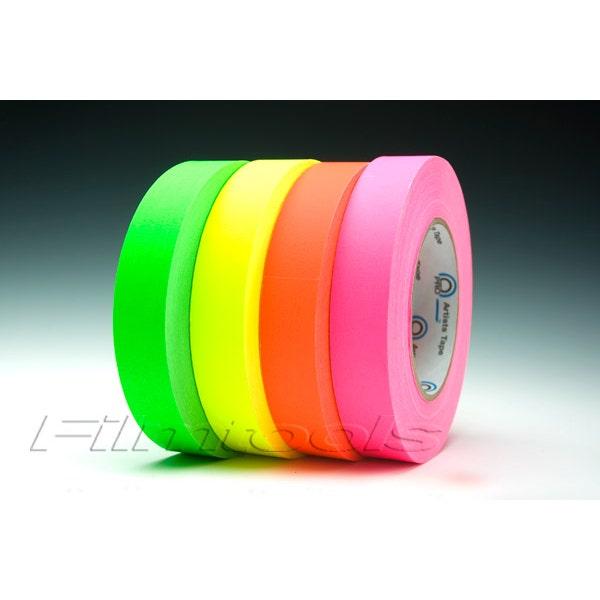 "ProTapes 1"" Artist's Fluorescent Paper Tape - 4 Colors - 1"" x 180 feet"