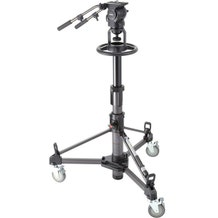 Libec Professional Pedestal System with Dolly, Fluid Head, and Pan Handle