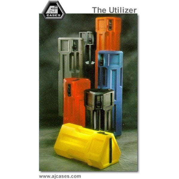"Hard Tripod Case. The Utilizer by A&J Cases. 9"" x 44"". Black"