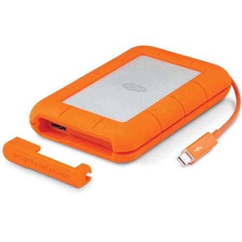 LaCie 2TB Rugged Thunderbolt USB 3.0 External Hard Drive