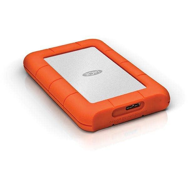 LAC9000298 LaCie Rugged Mini 2TB USB 3.0 USB 2.0 Portable Hard Drive