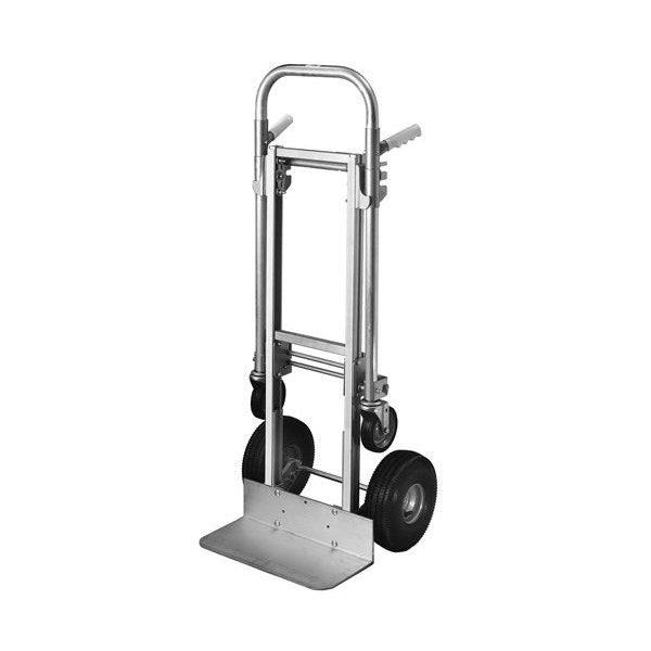 "Milwaukee Hand Trucks Modular Aluminum Convertible Truck with Twin Pin Handle and 10"" Pneumatic Tires"