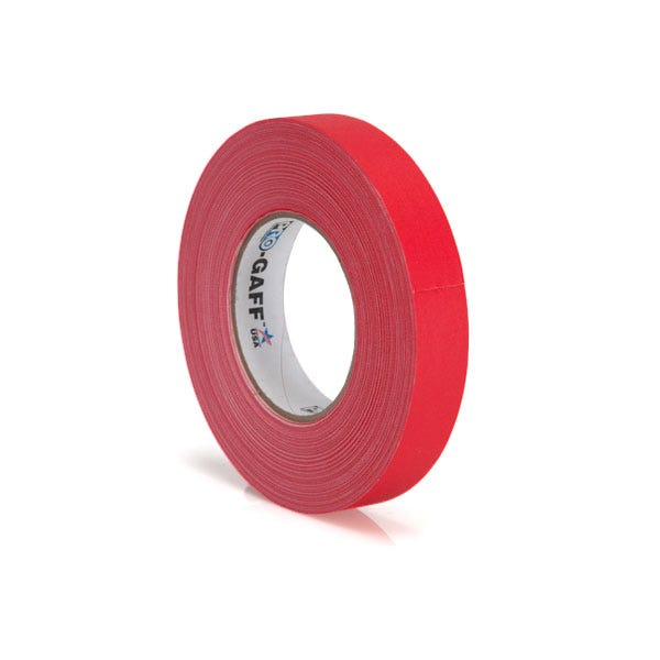 "Pro-Gaff 1"" Gaffer Tape (Camera Tape) - Red"