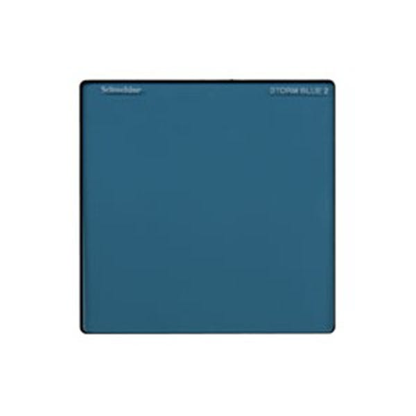 """Schneider Optics 4 x 4"""" Solid Color Storm Blue 2 Water White Glass Filter"""