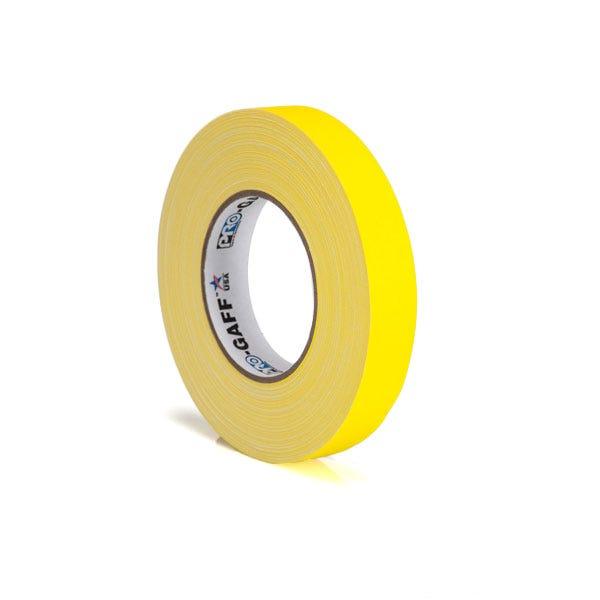 """Pro-Gaff 1"""" Gaffer Tape (Camera Tape) - Yellow"""
