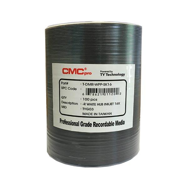 CMC Pro Taiyo Yuden 16X White Inkjet Hub Printable DVD-R 4.7GB - 100pc