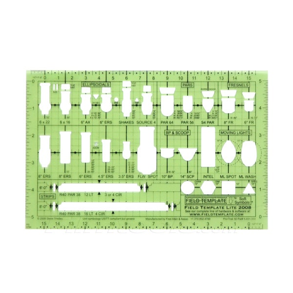 "Field Template™ Lite 1/2"" Lighting Template"