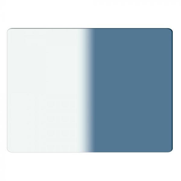 "Schneider Optics 4 x 5.65"" Graduated Sapphire Blue 1 Water White Glass Filter - Hard Edge with Vertical Orientation"