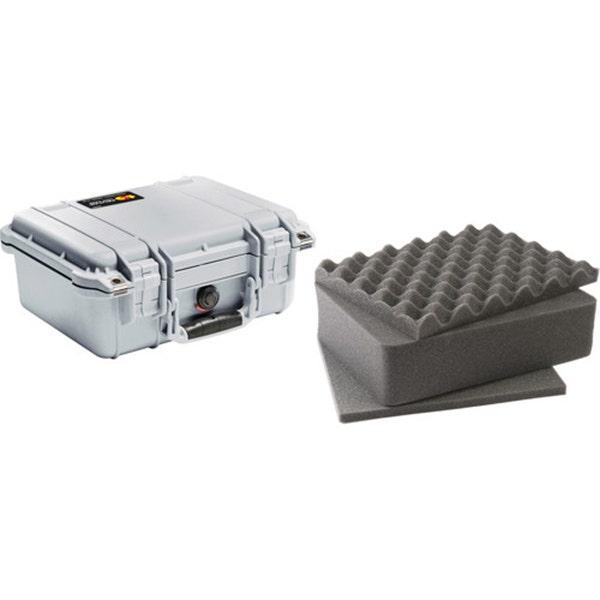 Pelican 1400 Case with Foam - Silver
