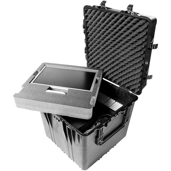 "Pelican 0370 24"" Cube Case with Foam - Black"