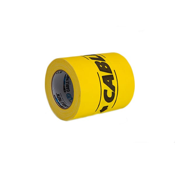 """ProTapes 6"""" Cable-Path Zone Tape - Yellow"""