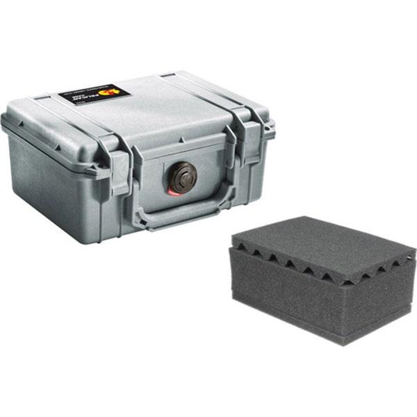 Pelican 1150 Case with Foam - Silver