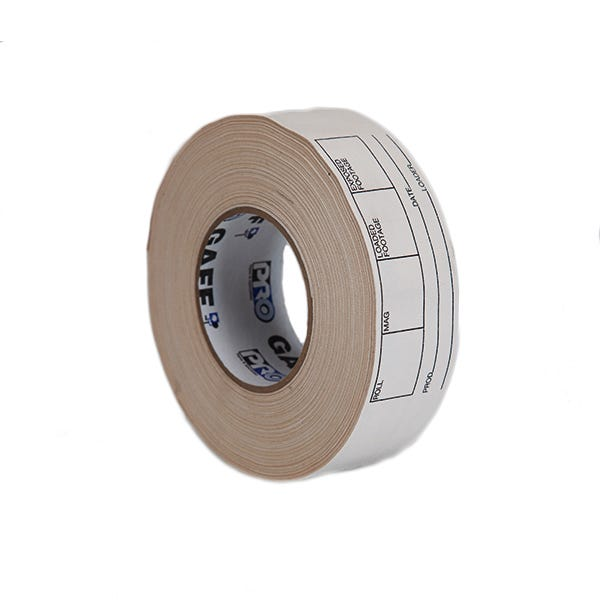 "Pro-Gaff 2"" Magazine and Film Can Label Gaffer Tape - White"