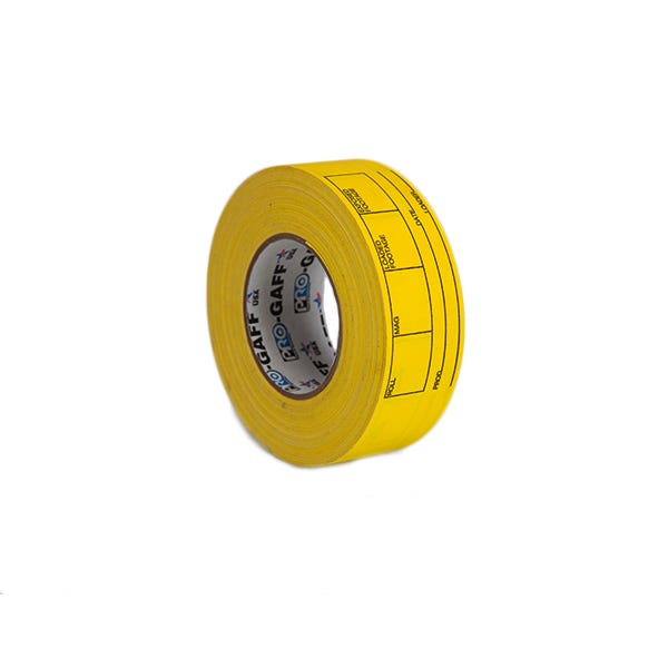 "Pro-Gaff 2"" Magazine and Film Can Label Gaffer Tape - Yellow"