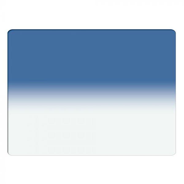 "Schneider Optics 4 x 5.65"" Graduated Paradise Blue 2 Water White Glass Filter - Soft Edge with Horizontal Orientation"