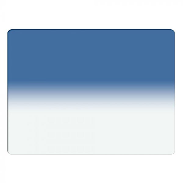 "Schneider Optics 4 x 5.65"" Graduated Paradise Blue 3 Water White Glass Filter - Soft Edge with Horizontal Orientation"