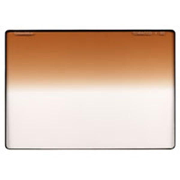 "Schneider Optics 4 x 5.65"" Graduated Tobacco 1 Water White Glass Filter - Soft Edge with Horizontal Orientation"