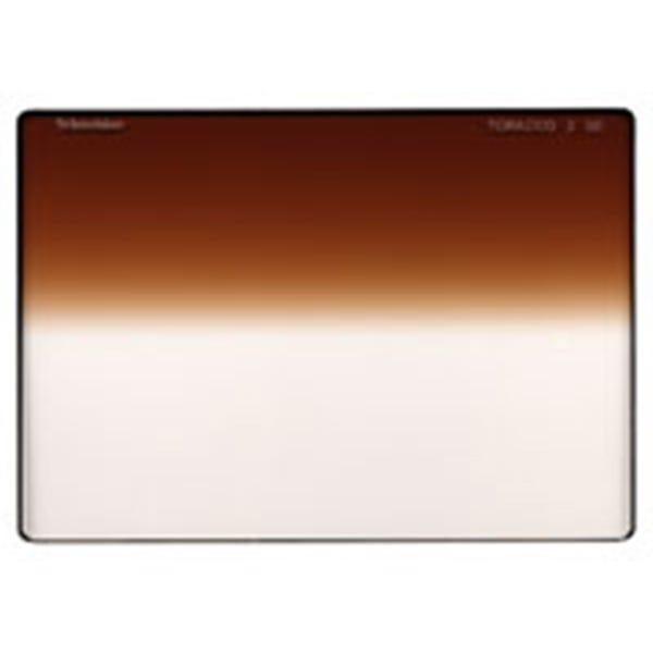 "Schneider Optics 4 x 5.65"" Graduated Tobacco 3 Water White Glass Filter - Hard Edge with Horizontal Orientation"