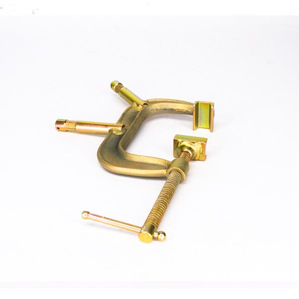 "Modern 4"" C-Clamp with 5/8"" Baby Pins"
