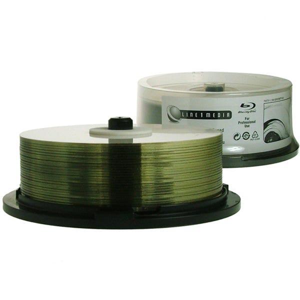 Line1 Media BR-6X-25GB-Single Layer-Thermal-W-Hub Print - Cake Box - 50pc