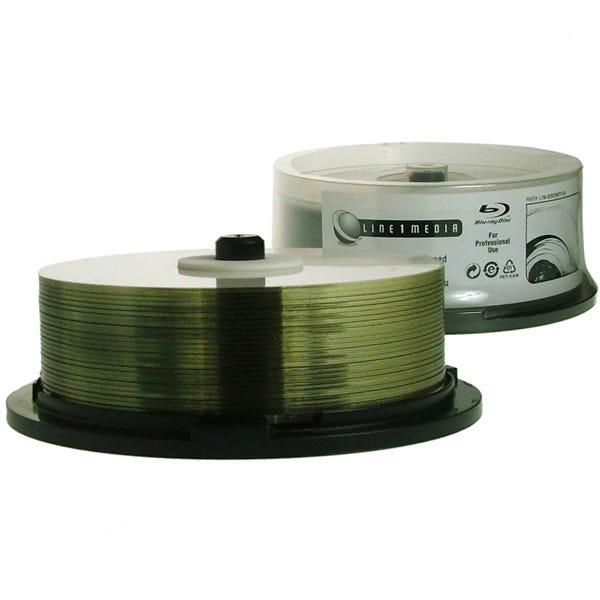 Line 1 Media BR-6X-50GB-Dual Layer-Inkjet-W-Hub Print - Cake Box - 25pc