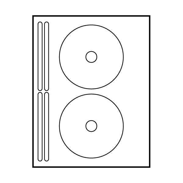 "Polyline Avery Compatible Matte CD Labels - 4-5/8"" (400 Labels)"