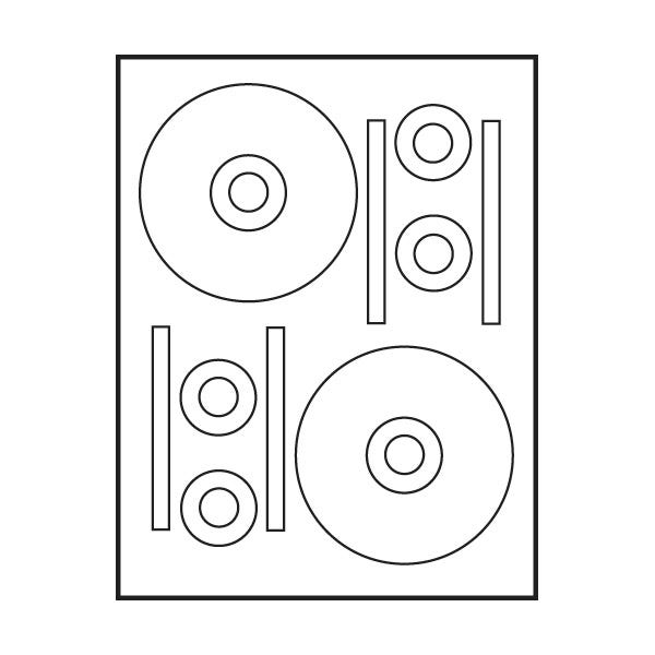 "Polyline Stomper Compatible Matte CD Labels - 4.625"" (400 Labels)"