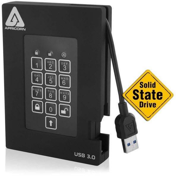 Apricorn Aegis Padlock External SSD - USB 3.0 (Various Memory Capacities)