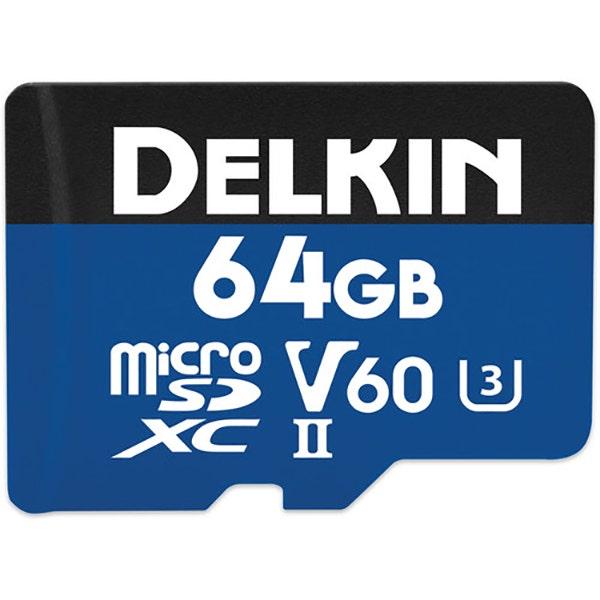Delkin 64GB microSDXC Memory Card