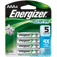 Energizer AAA Rechargeable NiMH Battery - 4 Pack