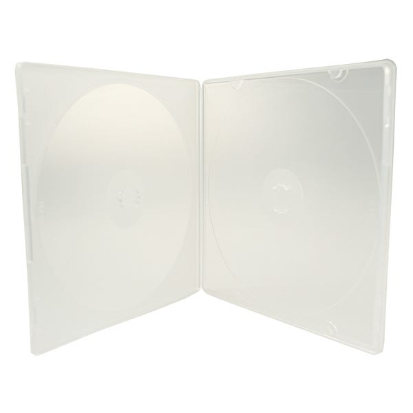 5.2mm Slim Clear 2-Disc CD/DVD Poly case - w/Overlay