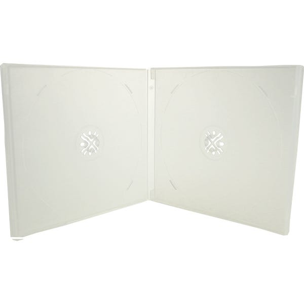 10.4mm Clear Double CD/DVD Poly box - w/Overlay