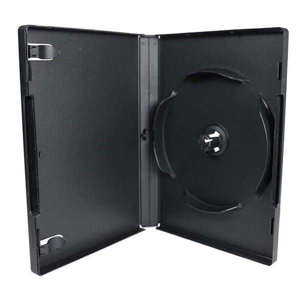 8-Disc Stack-Hub DVD Case - Black - 22mm -  Virgin Material
