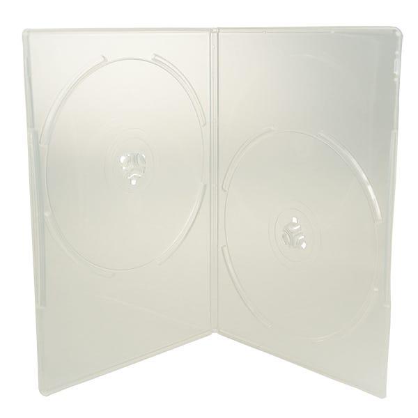 7mm Premium Slim Clear Double DVD Case - w/Overlay